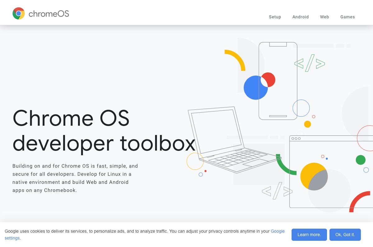 Google Chrome OS Developer Landing Pages | Gigareef